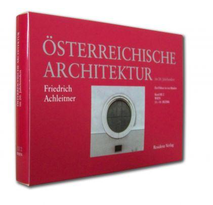 """Coverabbildung von """"Österreichische Architektur im 20. Jahrhundert III/2"""""""